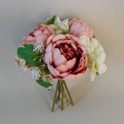 Ceres Peony and Hydrangea Wedding Posy Coral Peach - P018 GG3