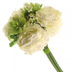 Camilla Wedding Posy Bouquet Cream Green - CAM004 G2