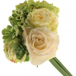 Camilla Wedding Posy Bouquet Green Cream - CAM007 G2