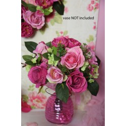 Chloe Artificial Roses Wedding Bouquet Pink - R606 O3