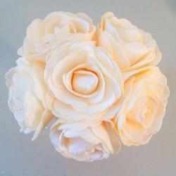 Foam Roses Wedding Posy with Glitter Summer Melon - R680 U3