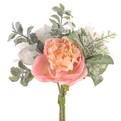 Ina Wedding Posy Bouquet Coral Peach Peonies - R939 GG2