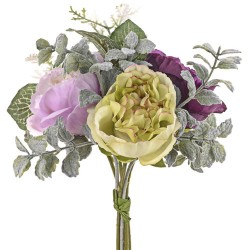 Ina Wedding Posy Bouquet Green and Purple Flowers - R937 HH1