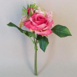 Lizzie Cottage Garden Mini Posy Pink - R805 O2