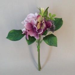 Lyla Cottage Garden Mini Posy Mauve Purple - R806 O2