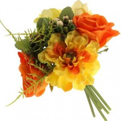 Megan Wedding Posy Bouquet Yellow and Orange - MEG001 J1