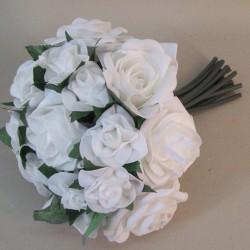 Mixed Foam Roses Posy White - R617 U4