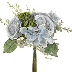 Pearl Wedding Posy Bouquet Blue - PEA017 EE3
