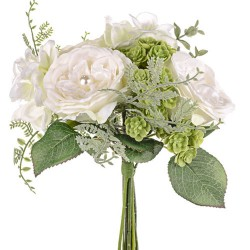 Pearl Wedding Posy Bouquet Ivory - PEA019 EE3