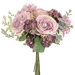 Pearl Wedding Posy Bouquet Pink - PEA018 BX13