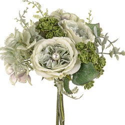 Pearl Wedding Posy Bouquet Sage Green - PEA020 EE3