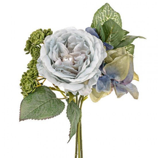 Small Blue Flowers For Weddings: Pearl Wedding Small Posy Bouquet Blue