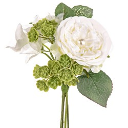 Pearl Wedding Small Posy Bouquet Ivory - PEA015 FF3
