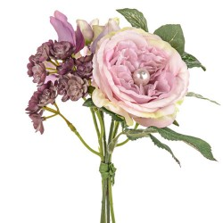 Pearl Wedding Small Posy Bouquet Pink - PEA014 FF3