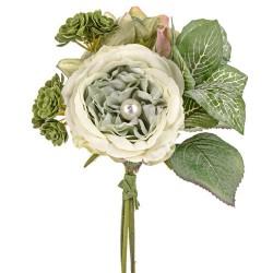 Pearl Wedding Small Posy Bouquet Sage Green - PEA016 FF3