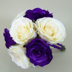 Purple And Cream Rose Bridesmaid Posy - ADEC07a