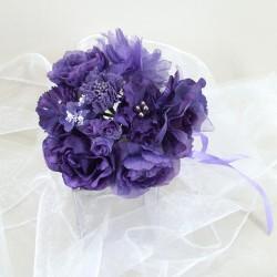 Artificial Flowers Vintage Wedding Bouquet Small Purple - ABC001b KK4