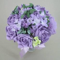 Artificial Flowers Vintage Wedding Bouquet Lavender - BA002 BX15