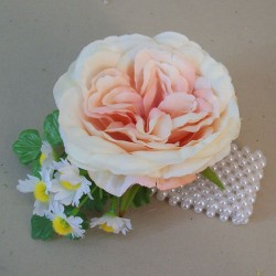 Cara Artificial Rose and Daisies Wrist Corsage - CARA003