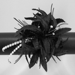 Wrist Corsage Black Nerine Lilies - WCOR012