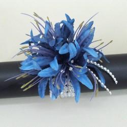 Blue Nerine Lilies Wrist Corsage - WCOR023