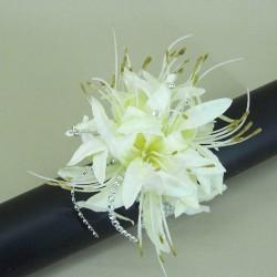 Cream Nerine Lilies Wrist Corsage - WCOR022