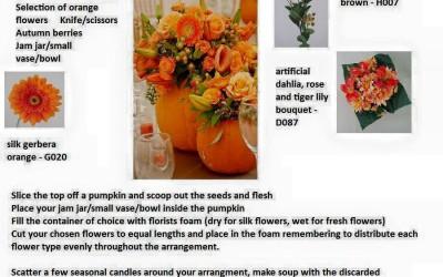 Autumn Inspirational Artificial Flowers Mood Board - Part 1