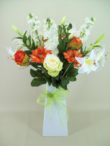 About silk flowers gift bouquet delivery a complimentary gift card is included just send us your message via our contacts page stating your order number and we will do the rest mightylinksfo